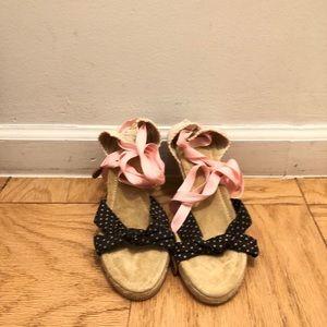 Jcrew espadrille peep toe sandal